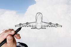 Airplane design royalty free stock photography