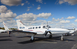 Airplane Displayed on Airport Tarmac Royalty Free Stock Photography
