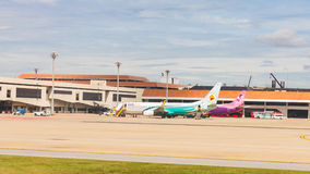 Airplane at Don Mueang International Airport on August 22 2015 i Royalty Free Stock Photography