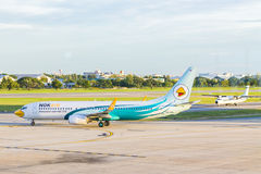 Airplane at Don Mueang International Airport on August 22 2015 i Royalty Free Stock Images