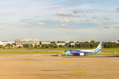 Airplane at Don Mueang International Airport on August 22 2015 i Royalty Free Stock Photo
