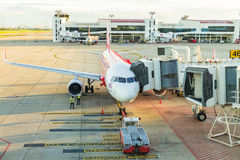 Airplane at Don Mueang International Airport on August 22 2015 i Stock Photography