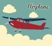 Airplane draw Stock Image