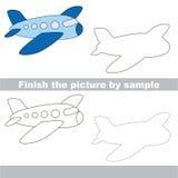 Airplane. Drawing worksheet. Stock Images
