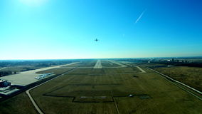 Airplane from drone stock footage