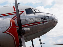 Airplane With Dual Propellers Stock Image
