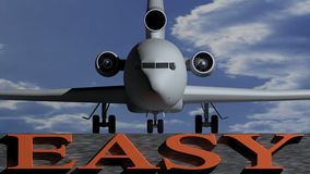 Airplane easy Royalty Free Stock Images