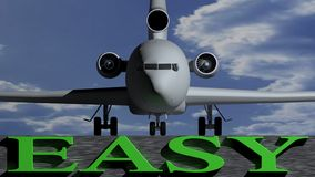Airplane easy Stock Photography
