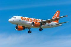 Airplane easyJet G-EZDI Airbus A319-100 Stock Photo