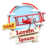 Airplane emblem logo event illustration Stock Photography