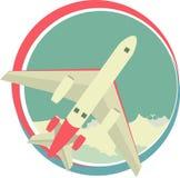 Airplane emblem Stock Photo