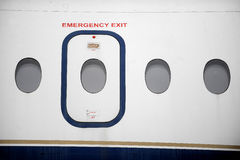 Airplane Emergency Exit Royalty Free Stock Image