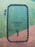 Airplane emergency exit Stock Photos