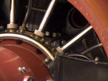 Airplane Engine Closeup. Closeup of the front of a propeller engine Royalty Free Stock Photos