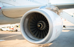 Airplane engine. Royalty Free Stock Image