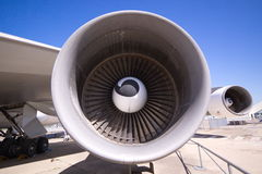 Airplane Engine. One of four Stock Image