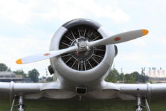 Airplane engine with propeller royalty free stock images