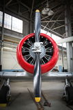 Airplane engine  and propeller Stock Images