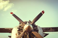 Airplane engine and Propeller Royalty Free Stock Photo