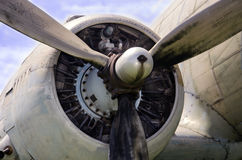 Airplane engine Royalty Free Stock Image
