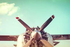 Airplane engine Stock Image