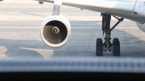 Airplane engine running stock footage