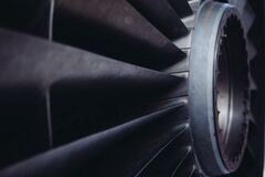 Airplane engine turbine