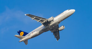 Airplane FCO for germany Stock Photos