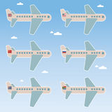 Airplane flags Stock Photography