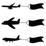 Airplane with flags vector illustration Stock Photo