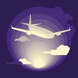 Airplane in flat design Royalty Free Stock Photos
