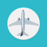 Airplane flat icon design vector Stock Image