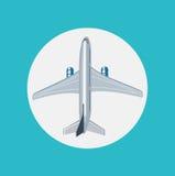Airplane flat icon design vector Stock Image