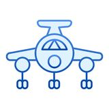 Airplane flat icon. Plain blue icons in trendy flat style. Aircraft gradient style design, designed for web and app. Eps. 10 stock illustration