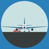 Airplane flat vector illustration Stock Photography