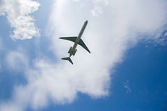 Airplane in flight Royalty Free Stock Image