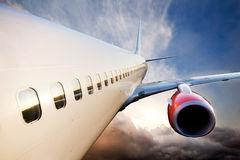 Airplane in Flight Royalty Free Stock Photography