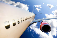 Airplane in Flight Royalty Free Stock Photos