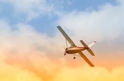 Airplane in flight Stock Photo