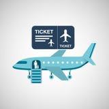 Airplane flight design Stock Images
