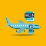 Airplane flight design Stock Photography