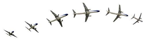 Airplane flight detalis in paths Royalty Free Stock Image