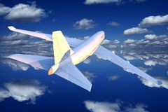 Airplane Flight Illustration Royalty Free Stock Images
