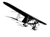 Airplane in flight. Vintage style vector illustration vector illustration