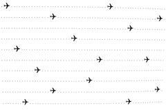 Airplane flights Stock Photography