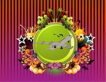 Airplane floral vector Stock Photos