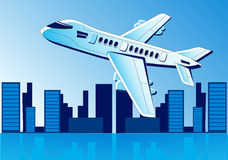 Airplane fly Stock Photography