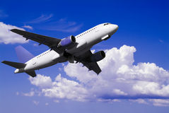 Airplane on fly Royalty Free Stock Photo