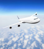 Airplane at fly Royalty Free Stock Photo