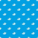 Airplane fly around the planet pattern seamless blue Stock Photography